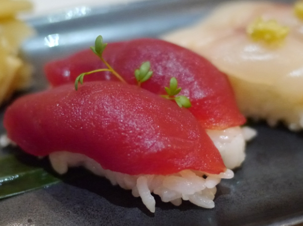 tuna nigiri sushi at inamo piccadilly