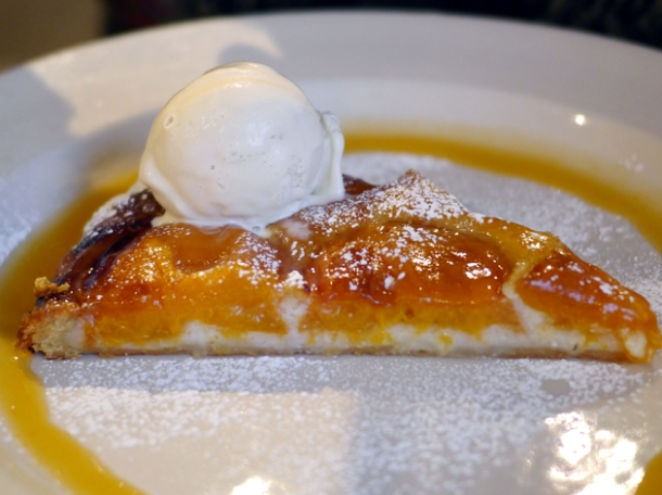 apricot tart at grain store granary square