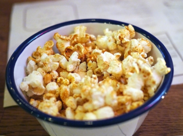 barbecue popcorn at porky's