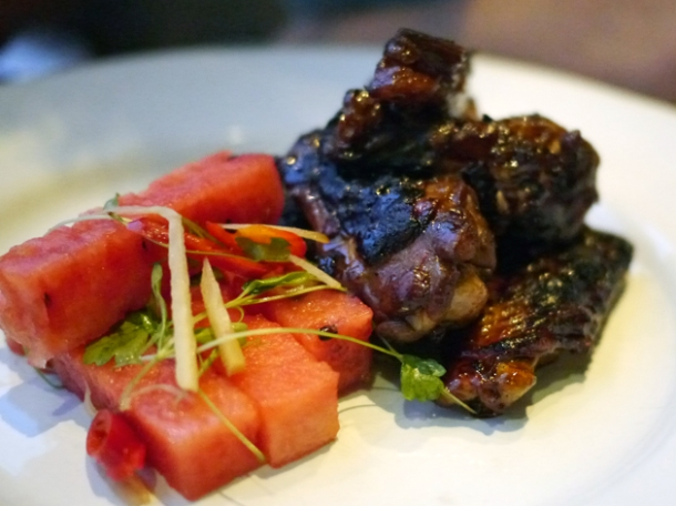 bourbon chicken wings at barbecoa