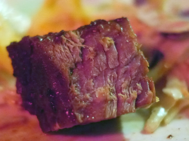 bite-size burnt end at bodean's fulham