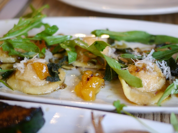 butternut squash ravioli at grain store king's cross