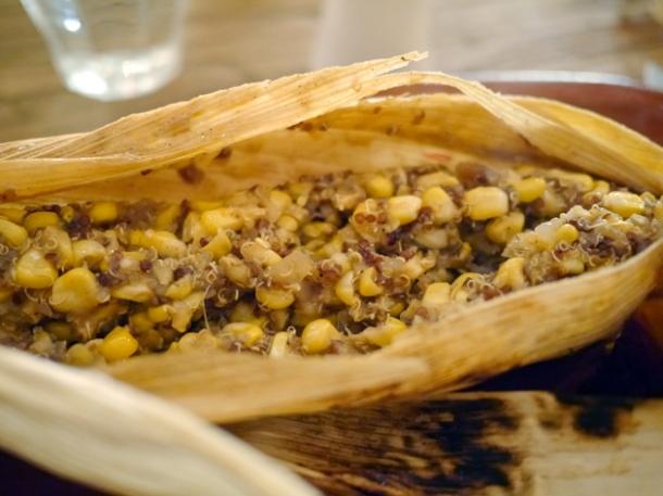 corn and quinoa tamales at grain store granary square