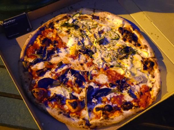 homeslice half-and-half pizza takeaway