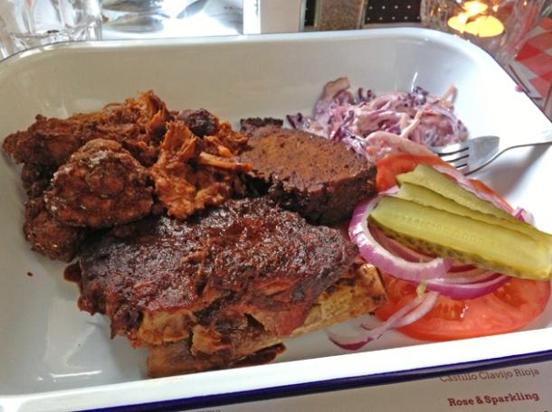 Meatlover platter at Filthy McNasty's