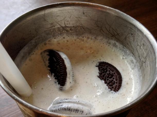 oreo milkshake at blues kitchen