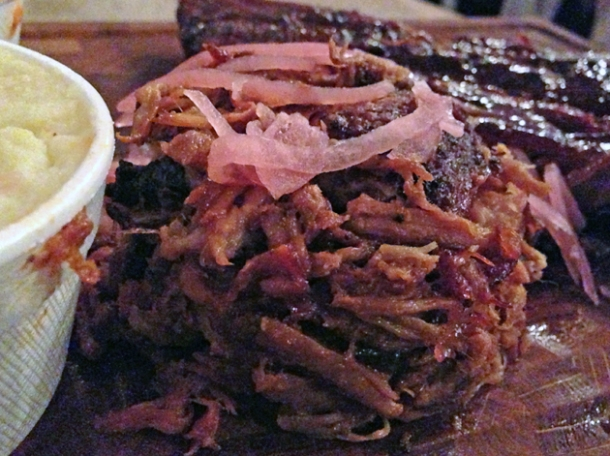 pulled pork at red dog saloon