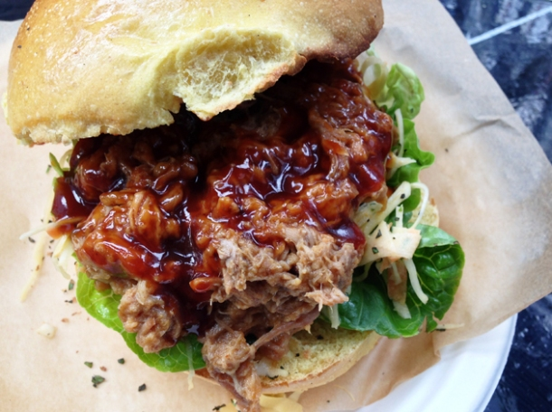 pulled pork bun at the joint