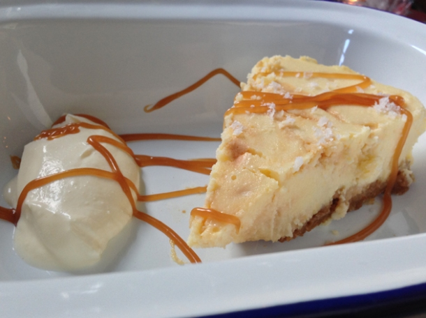 salted caramel cheesecake at meatlover