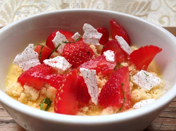 strawberries and cream at pitt cue