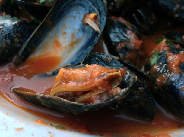 a mussel at osteria tufo