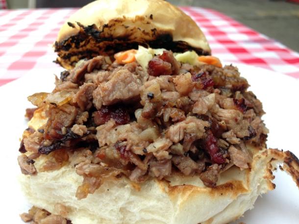 beef brisket sandwich from texas joe's