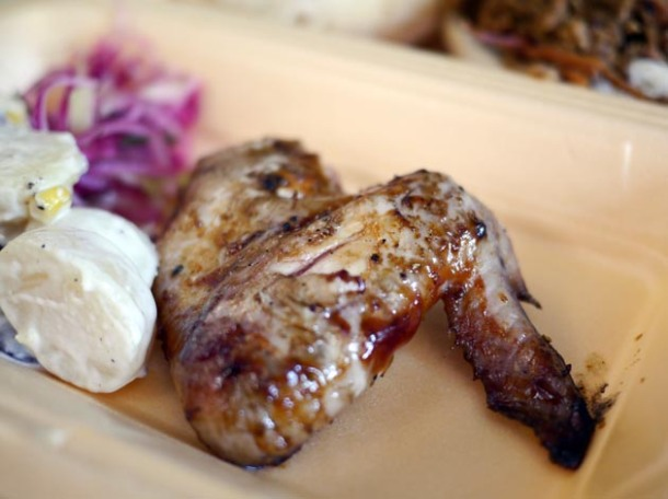 chicken wing from last summer swine