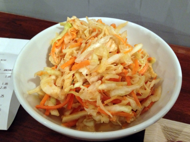 coleslaw at rub slow food diner