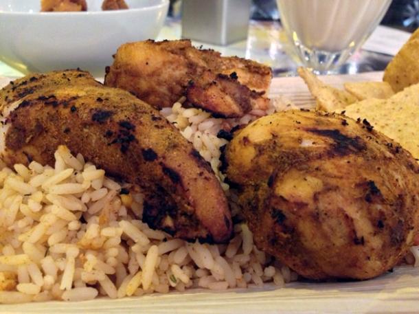 jerk chicken at rub slow food diner