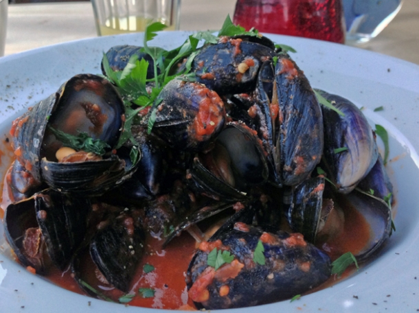 mussels at osteria tufo