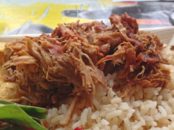 pulled pork at rub slow food diner
