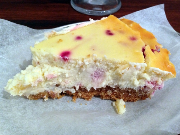 raspberry cheesecake at rub slow food diner and milk bar