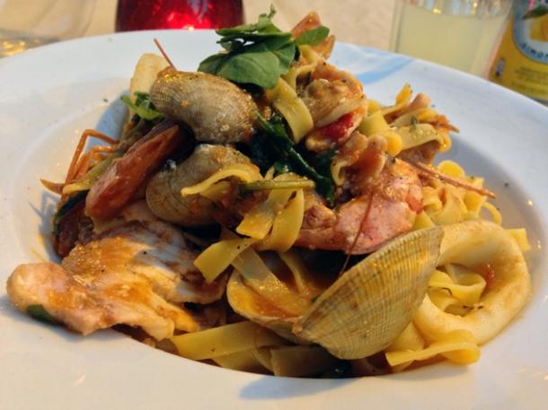seafood tagliolini at osteria tufo