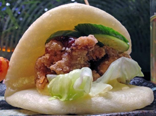 chicken karaage hirata bun at shoryu