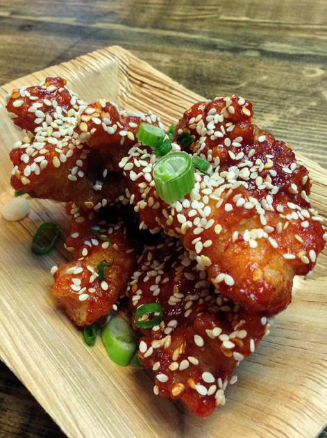 fried chicken strips at jubo