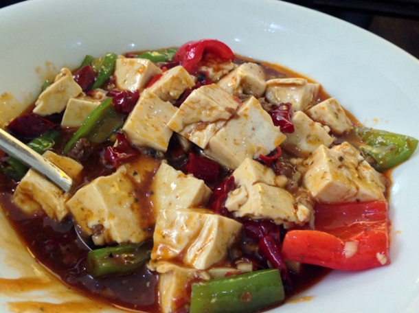 mapo tofu at oriental dragon