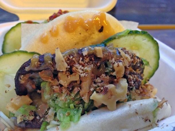 mushroom gua bao from yum bun