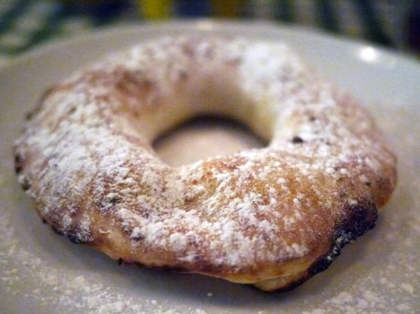 nutella and ricotta pizza ring dessert at pizza pilgrims