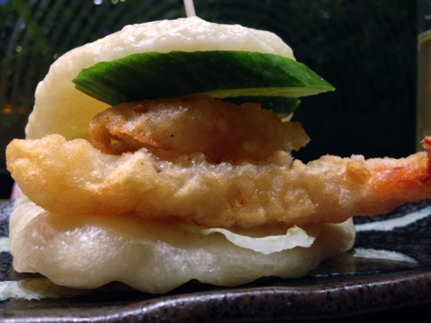 prawn tempura hirata bun at shoryu
