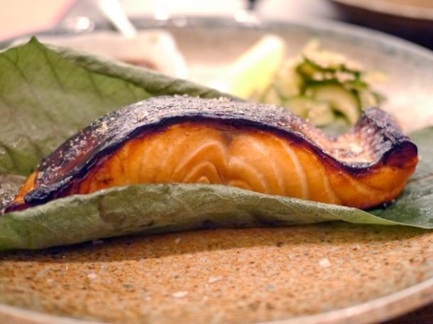 salmon teriyaki from flesh and buns