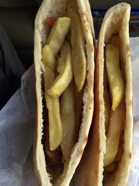 chips falafel in wadi musa