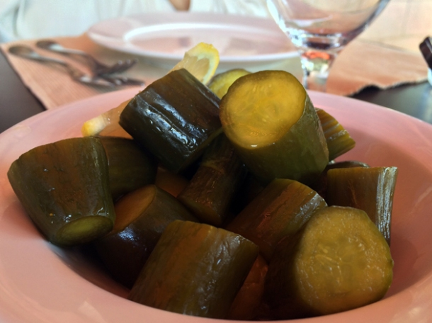 pickled cucumbers at floka