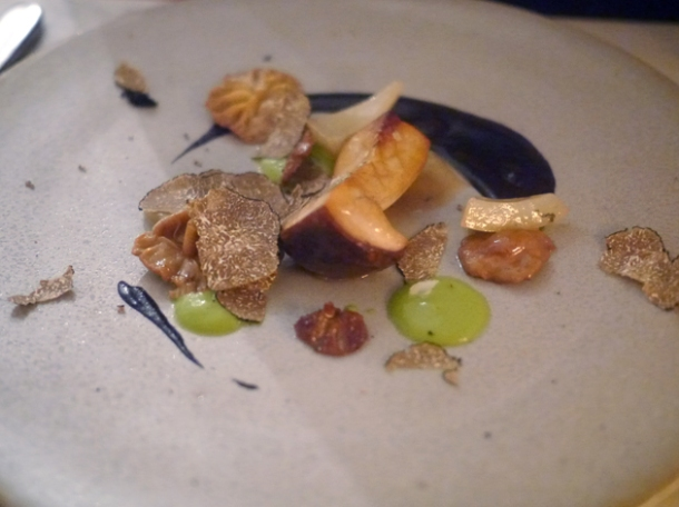 cep with truffles at the clove club