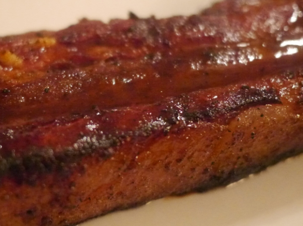 close up of bacon ribs at foxlow
