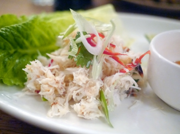 crab with devilled mayonnaise at foxlow
