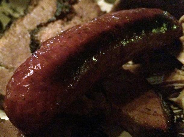 link sausage at texas joe's