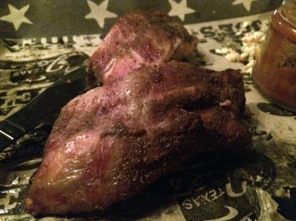 pork spare ribs at texas joe's