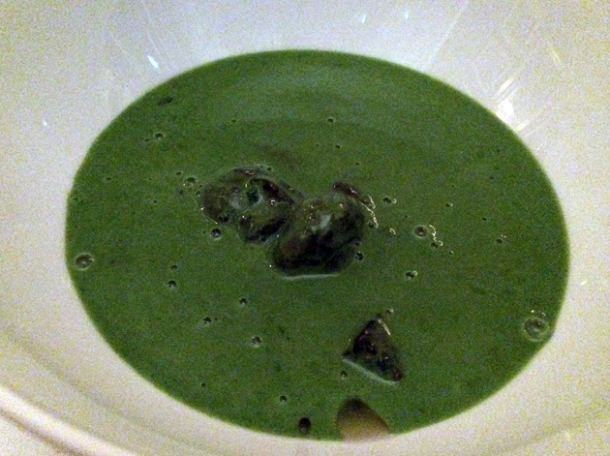 potato and parsley soup with snails at berners tavern