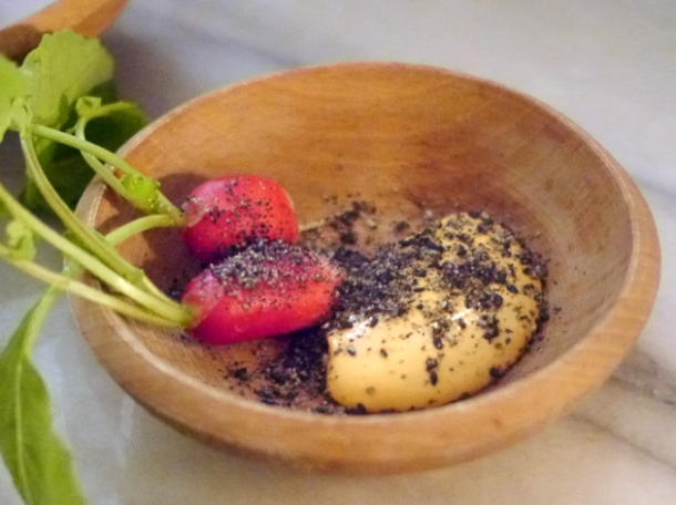 radishes at the clove club
