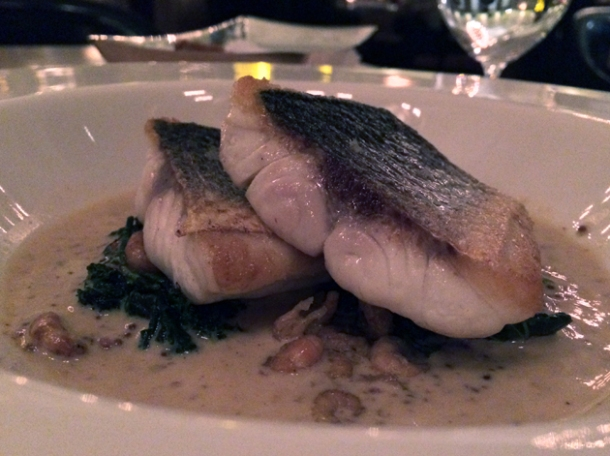roasted sea bass at berners tavern