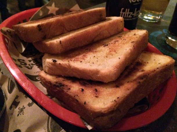 texan toast at texas joe's