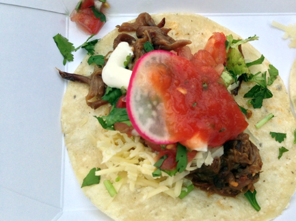 braised beef short rib tacos from breddo's tacos