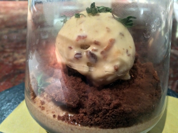 butter panna cotta in a jar at ember yard
