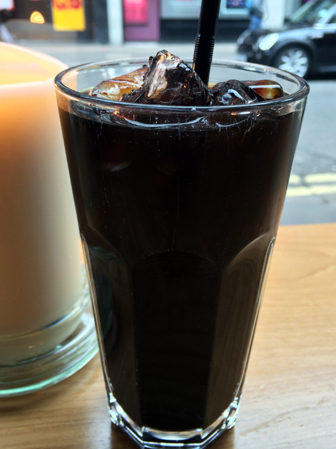 iced coffee at janetira