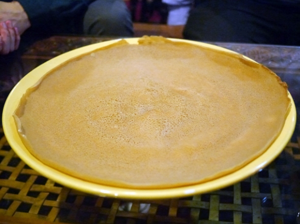 large injera at lalibela