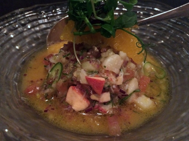 lobster ceviche at peyote