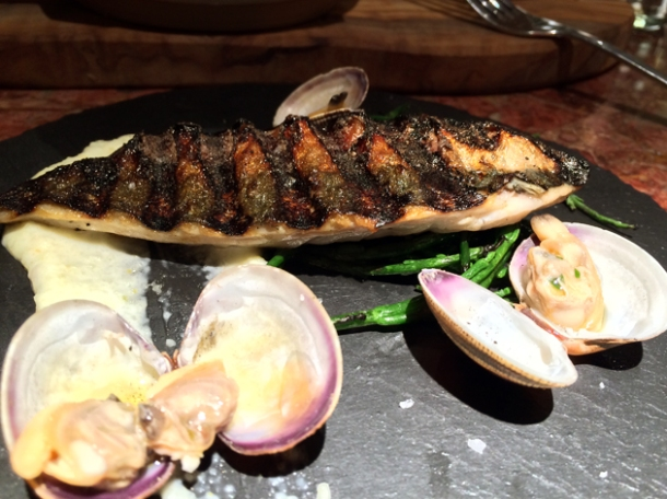 mackerel with clams at ember yard