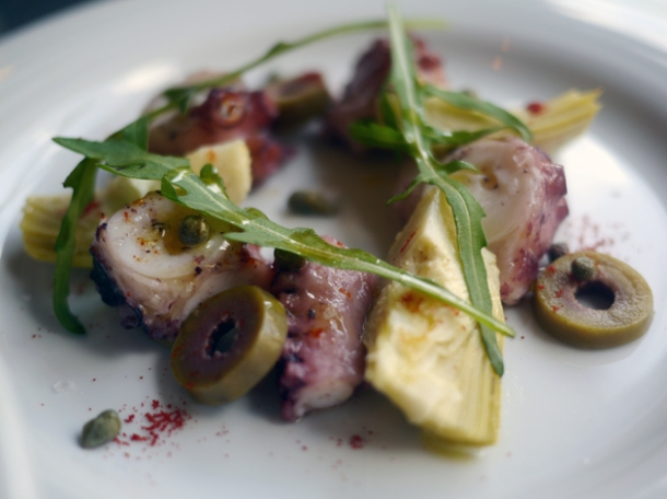 octopus with capers and olives at meat people