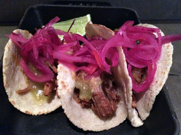 pork pibil tacos at peyote