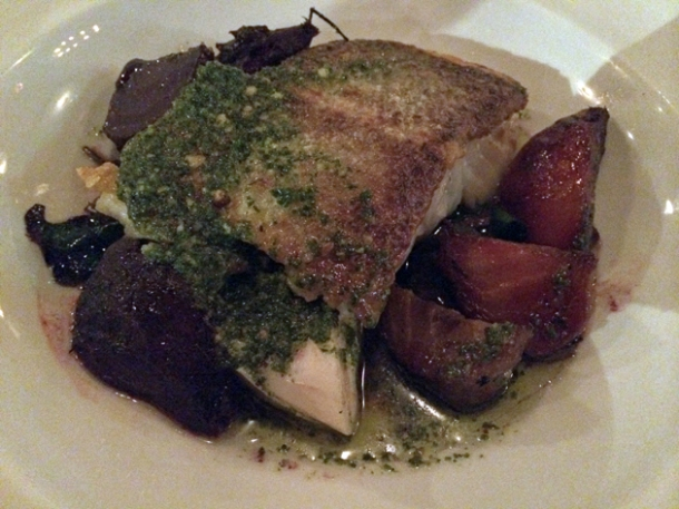 roast cod at ape and bird